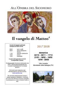Il Vangelo di Matteo - 4 (incontri 2017/2018) - Gennaio @ Villa Lomellini | Lombardia | Italia